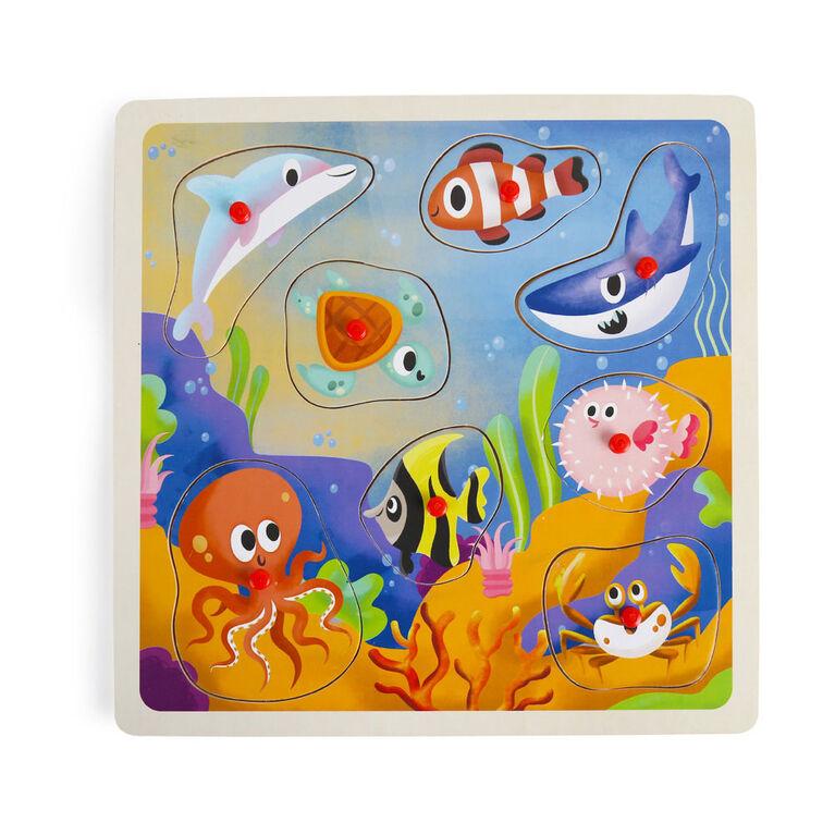 Imaginarium Discovery - Wooden Classic Peg Puzzle Assortment - Ocean