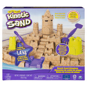 Kinetic Sand - Beach Sand Kingdom Playset with 3lbs of Beach Sand