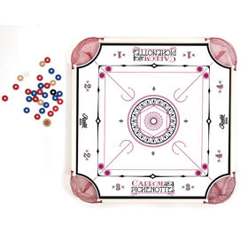 2 IN 1  Pinnochi and Carrom game.