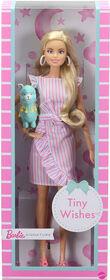 Poupée Barbie Voeux tout-petits (Tiny Wishes) vêtue d'une robe portefeuille et d'accessoires