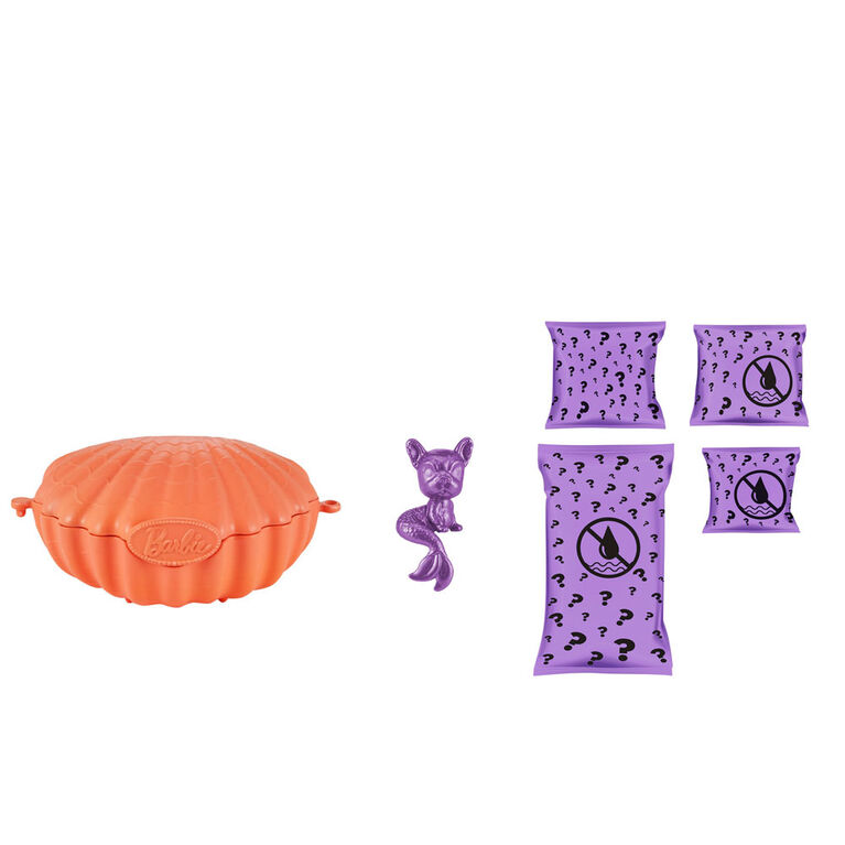 Barbie Color Reveal Pet Set in Shell-Shaped Case with 5 Surprises - Styles May Vary