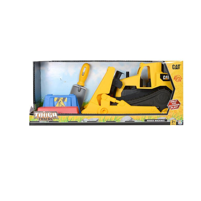 Caterpillar - Tough Tracks Rugged Machine With Shovel & Molds - Bulldozer - R Exclusive