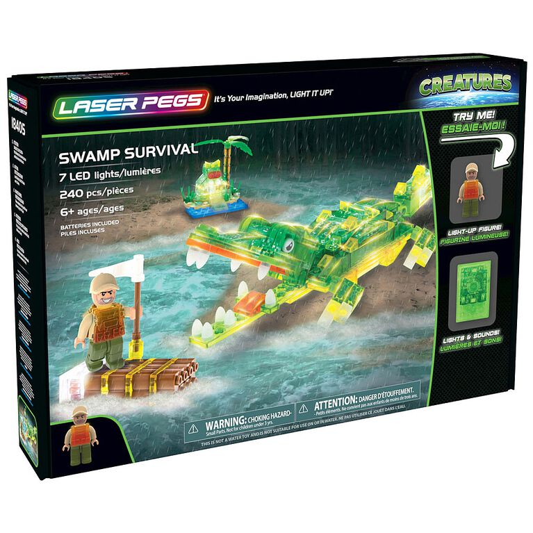 Laser Pegs Creatures Collection - Swamp Survival