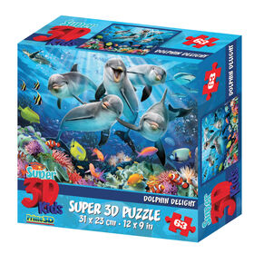 Howard Robinson Dolphin Delight 63 Piece Super 3D Puzzle
