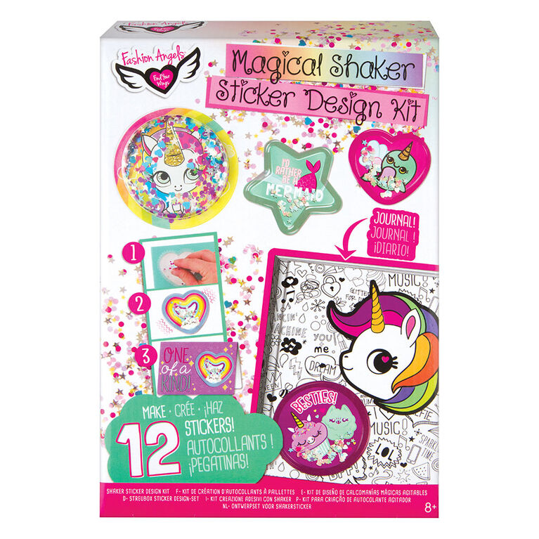 Fashion Angels Sequin Shaker Sticker Design Kit w/Journal