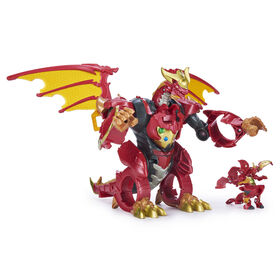 Bakugan, Dragonoid Infinity Transforming Figure with Exclusive Fused Bakugan Ultra and 10 Baku-Gear Accessories