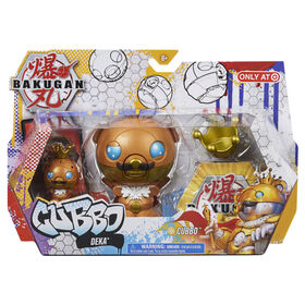 Bakugan, Cubbo Deka Pack with Exclusive Jumbo King Cubbo and Core Cubbo, Geogan Rising Transforming Collectible Action Figures