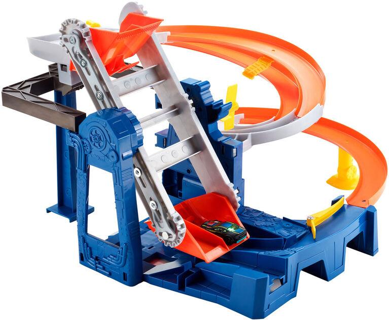 Hot Wheels - Coffret de jeu Course dans l'usine.