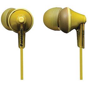 Écouteurs ergonomiques à isolation sonore RPHJE125 de Panasonic - jaune