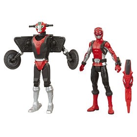 Power Rangers Beast Morphers, figurines Ranger rouge et Morphin Cruise Beastbot