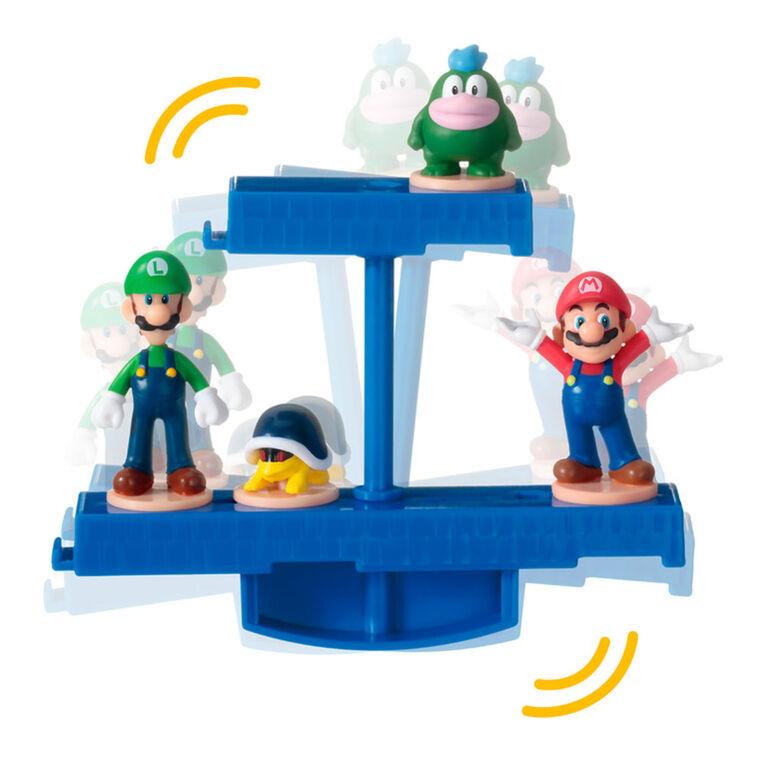 Epoch Games Super Mario Balancing Games, 3 Tabletop Skill Games with Collectible Super Mario Action Figures - English Edition