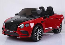 Bentley Porteur De 12 Volts - Rouge Et Noir - Notre exclusivité