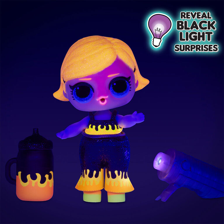 L.O.L. Surprise! Lights Glitter Doll with 8 Surprises Including Black Light Surprises