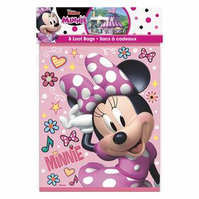 Minnie  Loot Bags, 8 pieces