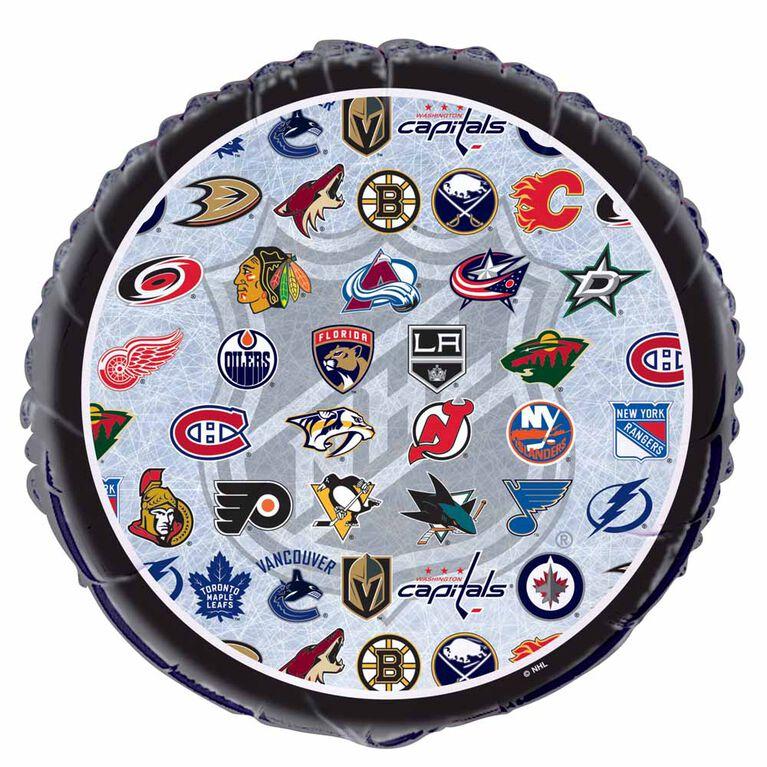 """NHL Fans Round Foil 18"""""""