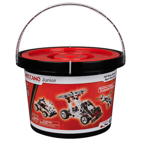Meccano Junior, 150-Piece Bucket S.T.E.A.M. Building Kit with Real Tools