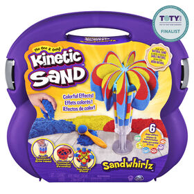 Kinetic Sand, Sandwhirlz Playset with 3 Colors of Kinetic Sand (2lbs) and Over 10 Tools