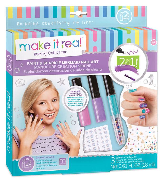 Make It Real Mermaid Spa Paint & Sparkle Nail Art