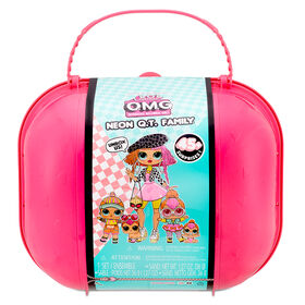 LOL Surprise Exclusive OMG Neon Q.T. Family - Limited Edition Fashion Doll, Dolls and Pet with 45+ Surprises - R Exclusive