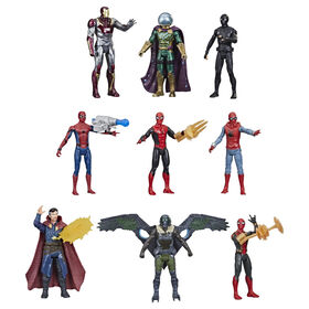 Marvel Spider-Man 6-Inch Figure Multi Movie Collection Pack, 9 Heroes and Villains, 6 Accessories - R Exclusive