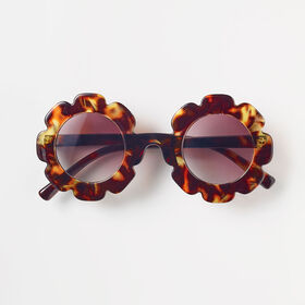 bloom sunnies, o/s kids sunglasses -  brown