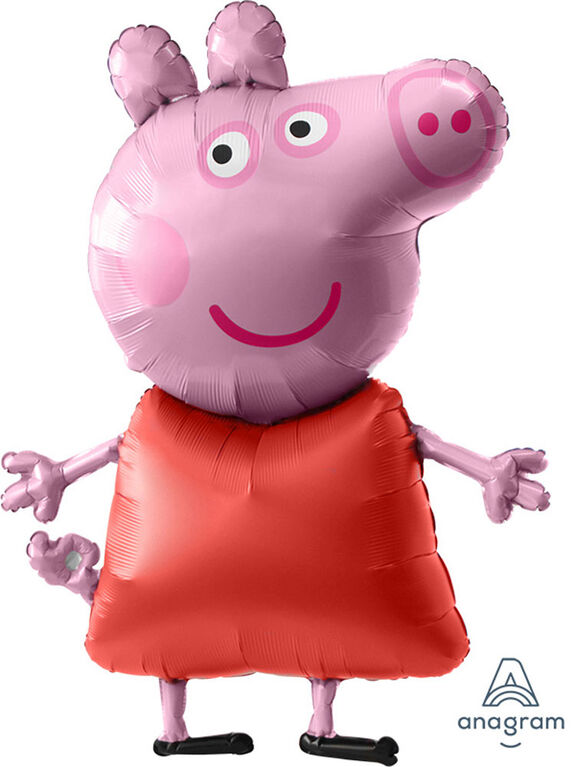 "Grand Ballon Métallique ""Airwalker"" Peppa Pig"