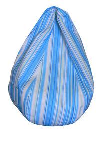 Boscoman - Fauteuil à billes rayé piriforme - bleu / vert