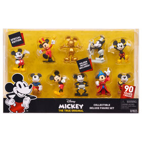 Mickey's 90th 10 Pk Deluxe Figure Set.