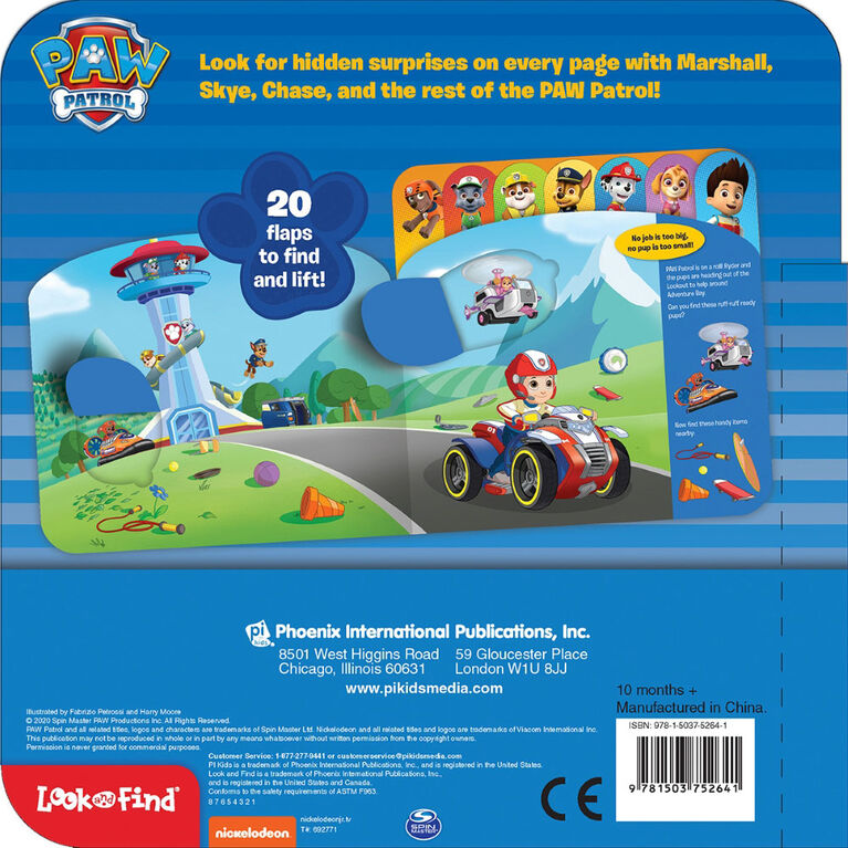 Paw Patrol Lift The Flap Look And Find - English Edition