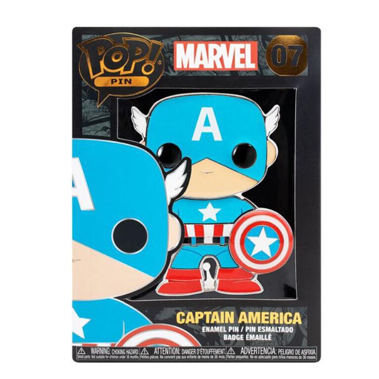 Badge émaillé Captain America par Funko Pop! Marvel