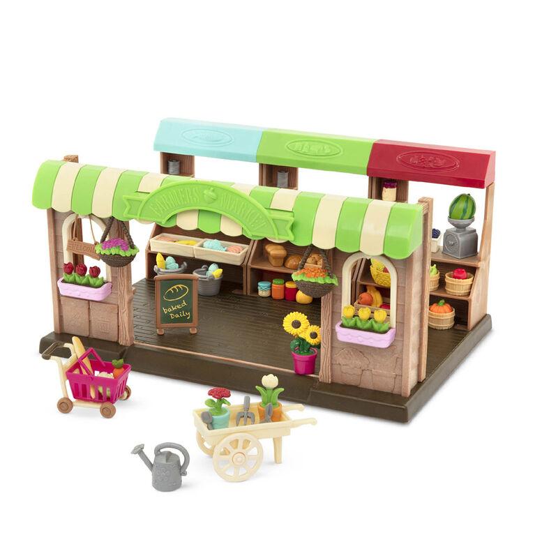 Li'L Li'l Woodzeez Hoppin' Farmers Market, Li'l Woodzeez, Marché fermier avec aliments-jouets - les motifs peuvent varier