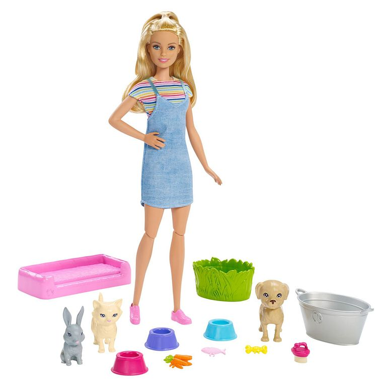 Barbie Play 'n Wash Pets Doll and Playset