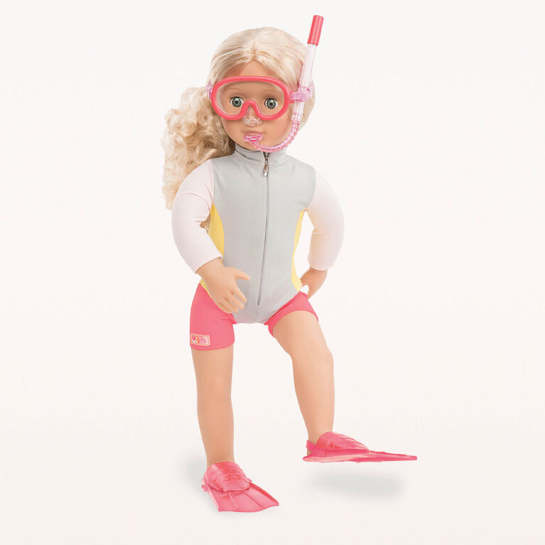 Our Generation, Coral, 18-inch Posable Surfer Doll