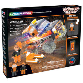 Collection Rallye Monster de Laser Pegs - Wrecker