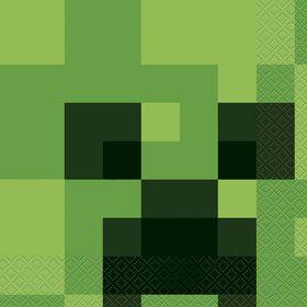 Minecraft Luncheon Napkins, 16 pieces