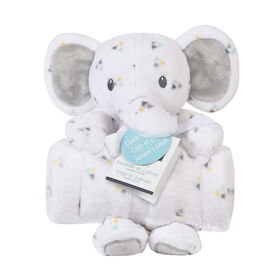 Baby's First By Nemcor 2 Piece Set- Cuddle And Play Elephant