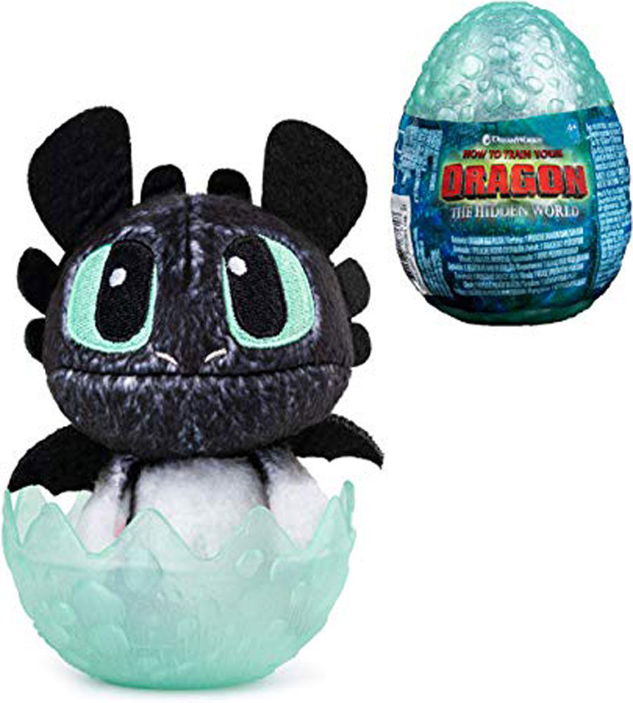 """How to Train Your Dragon le monde caché Baby Krokmou Dragon 3/"""" peluche dans OEUF"""