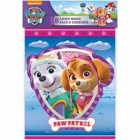 Paw Patrol PINK Loot Bags, 8 pieces