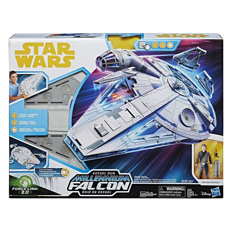 Star Wars Force Link 2.0 Kessel Run Millennium Falcon with Han Solo Figure