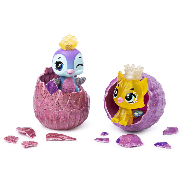 Hatchimals CollEGGtibles, Royal 2-Pack with Throne and 2 Accessories, (Styles May Vary)