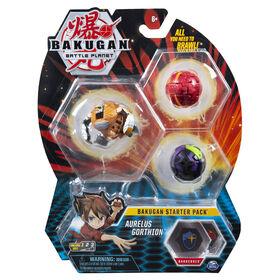 Bakugan Starter Pack 3-Pack, Aurelus Gorthion, Collectible Action Figures