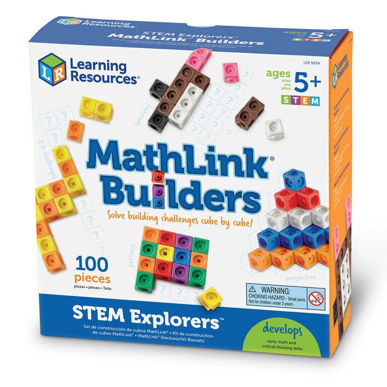 Learning Resources STEM Explorers Mathlink Builders - English Edition