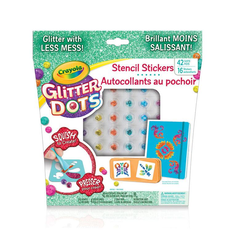 Autocollants au pochoir Crayola Glitter Dots