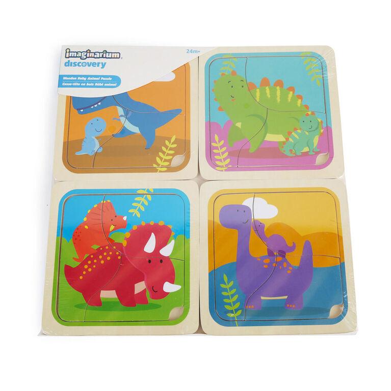 Imaginarium Discovery - Wooden Baby Animal Puzzle Assortment - Dinosaur