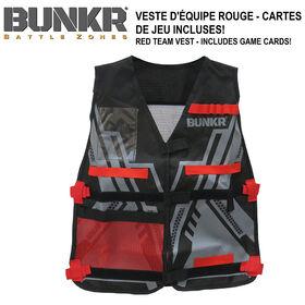 NBL BUNKR Tactical Red Team Vest for Blaster Battles