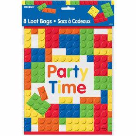 Building Blocks Loot Bags, 8 pieces - English Edition