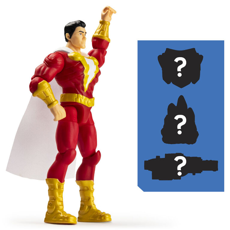 DC Comics 4-Inch Shazam! Action Figure with 3 Mystery Accessories, Adventure 1