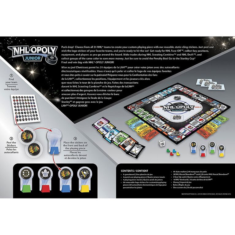 NHL-Opoly Jr Board Game - English Edition