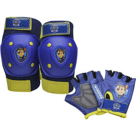 PAW Patrol - Kids Bike Pad & Glove Set - Chase