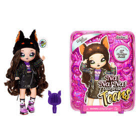 "Na Na Na Surprise Teens Fashion Doll – Rebel Dare, 11"" Soft Fabric Doll, Dog Inspired"